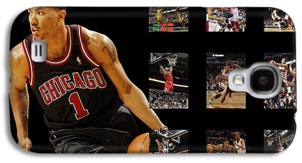 Uniforms Galaxy S4 Cases - Derrick Rose Galaxy S4 Case by Joe Hamilton