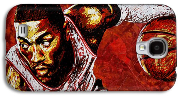 Derrick Rose Galaxy S4 Case by Maria Arango