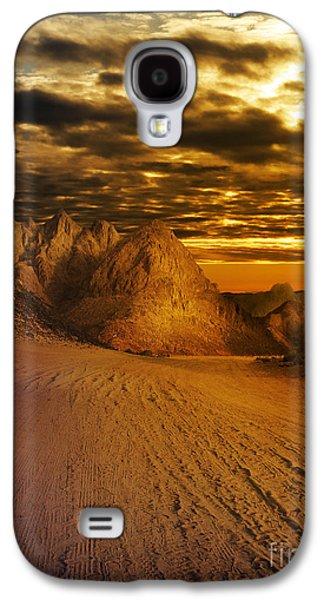 Orange Pyrography Galaxy S4 Cases - Deseret Landscape Galaxy S4 Case by Jelena Jovanovic