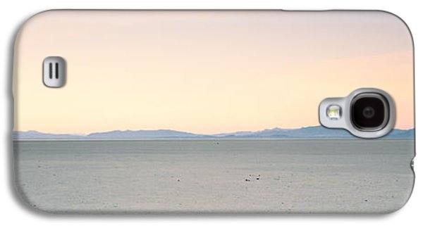 Dry Lake Galaxy S4 Cases - Desert At Sunrise, Black Rock Desert Galaxy S4 Case by Panoramic Images