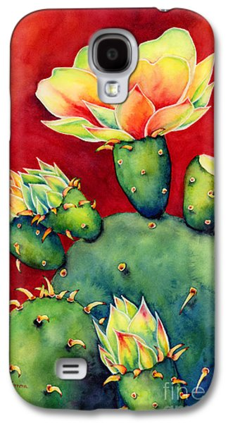 Botanical Galaxy S4 Cases - Desert Bloom Galaxy S4 Case by Hailey E Herrera