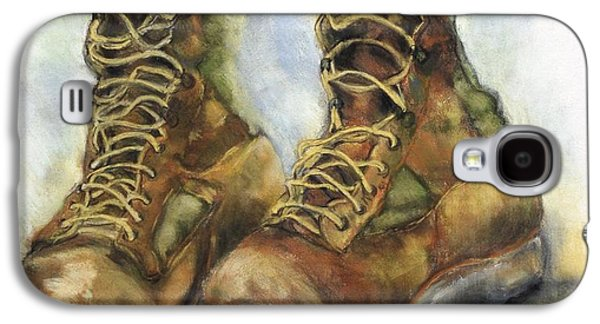 Iraq Prints Galaxy S4 Cases - Desert Boots Galaxy S4 Case by Leisa Shannon Corbett