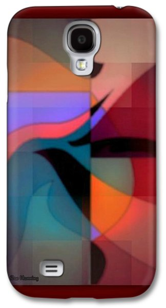 Abstract Digital Art Galaxy S4 Cases - Desert Cactus Galaxy S4 Case by Kristine Rae Hanning