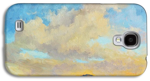 Country Scenes Galaxy S4 Cases - Desert Clouds Galaxy S4 Case by Diane McClary