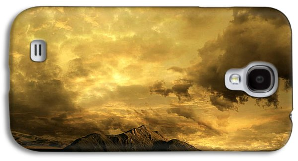 Lightning Digital Art Galaxy S4 Cases - Desert Evening Galaxy S4 Case by Franziskus Pfleghart