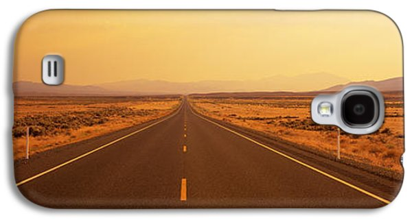 Mountain Road Galaxy S4 Cases - Desert Highway, Nevada, Usa Galaxy S4 Case by Panoramic Images