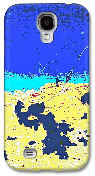 Modern Abstract Pyrography Galaxy S4 Cases - Desert Horizon Galaxy S4 Case by Charles Rayburn