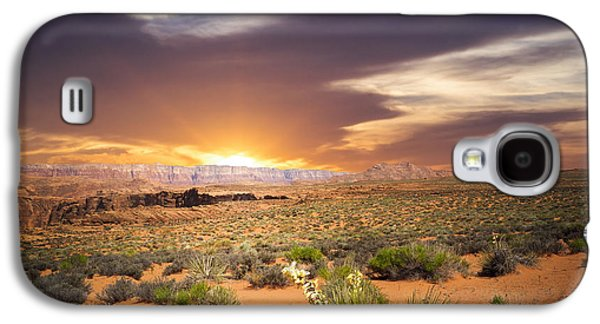 America Mixed Media Galaxy S4 Cases - An evening in the desert Galaxy S4 Case by Aged Pixel
