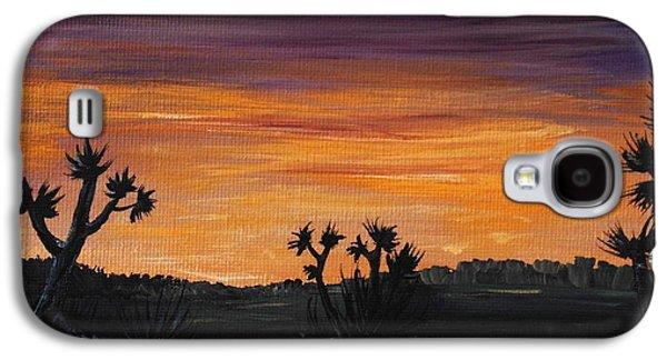 Nature Scene Drawings Galaxy S4 Cases - Desert Night Galaxy S4 Case by Anastasiya Malakhova