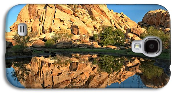 Trees Reflecting In Water Galaxy S4 Cases - Desert Oasis Reflections Galaxy S4 Case by Adam Jewell