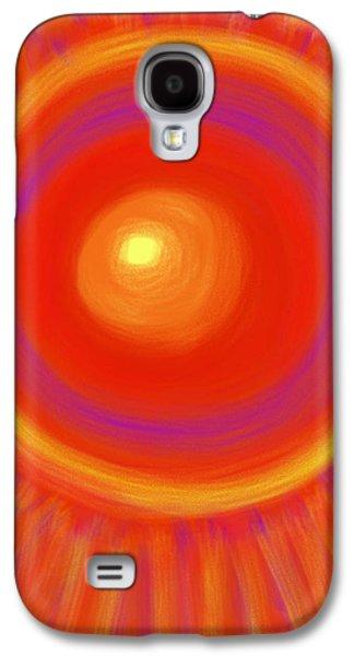 Daina White Galaxy S4 Cases - Desert Sunburst Galaxy S4 Case by Daina White