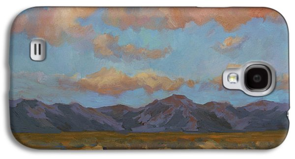 Early Spring Paintings Galaxy S4 Cases - Desert Sunrise Galaxy S4 Case by Diane McClary