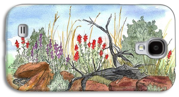Desert Wildflowers Galaxy S4 Case by Cathie Richardson