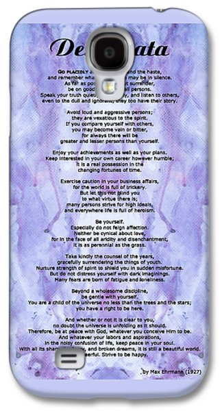 Poetry Galaxy S4 Cases - Desiderata 3 - Words of Wisdom Galaxy S4 Case by Sharon Cummings