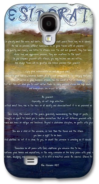 Inner Peace Galaxy S4 Cases - Desiderata lll Galaxy S4 Case by Michelle Calkins
