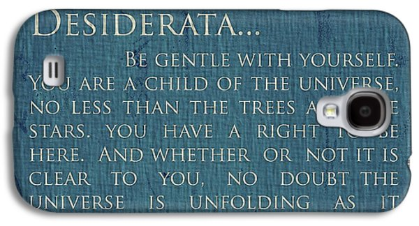 Author Mixed Media Galaxy S4 Cases - Desiderata On Canvas Galaxy S4 Case by Dan Sproul