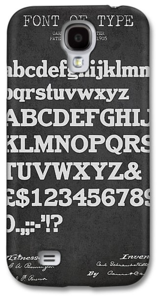 Font Galaxy S4 Cases - Design for a Font of  Type Patent Drawing from 1905 - Dark Galaxy S4 Case by Aged Pixel
