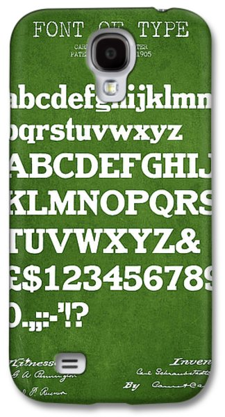 Font Galaxy S4 Cases - Design for a Font of  Type Patent Drawing from 1905 - Green Galaxy S4 Case by Aged Pixel