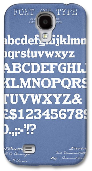 Font Galaxy S4 Cases - Design for a Font of  Type Patent Drawing from 1905 - Light Blue Galaxy S4 Case by Aged Pixel