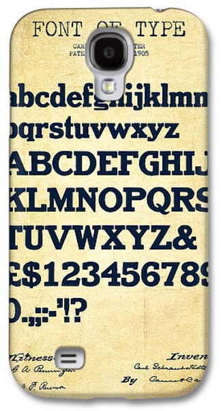 Font Galaxy S4 Cases - Design for a Font of  Type Patent Drawing from 1905 - Vintage Galaxy S4 Case by Aged Pixel