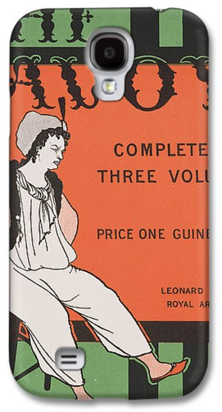 Illustrator Galaxy S4 Cases - Design for the front cover of The Savoy Complete in Three Volumes Galaxy S4 Case by Aubrey Beardsley