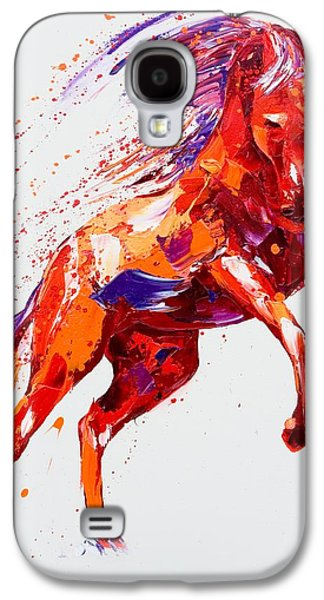 Wild Horse Paintings Galaxy S4 Cases - Destiny Galaxy S4 Case by Penny Warden