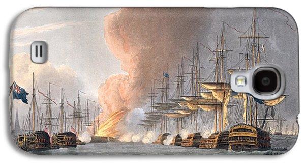 Historic Ship Galaxy S4 Cases - Destruction Of The Danish Fleet Galaxy S4 Case by Thomas Whitcombe