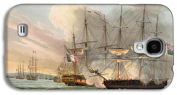 Historic Ship Galaxy S4 Cases - Destruction Of The French Fleet Galaxy S4 Case by Thomas Whitcombe