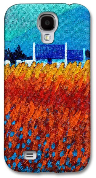 Landscape Acrylic Prints Paintings Galaxy S4 Cases - Detail from Golden Wheat Field Galaxy S4 Case by John  Nolan