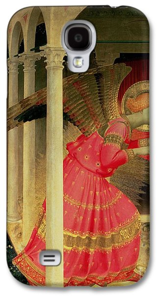 Gabriel Galaxy S4 Cases - Detail from The Annunciation showing the Angel Gabriel Galaxy S4 Case by Fra Angelico