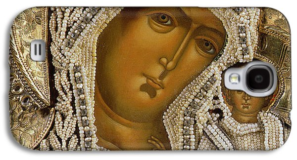 Detail Of An Icon Showing The Virgin Of Kazan By Yegor Petrov Galaxy S4 Case by Russian School