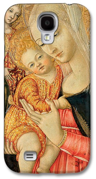 Jesus With Children Galaxy S4 Cases - Detail of Madonna and Child with angels Galaxy S4 Case by Matteo di Giovanni di Bartolo