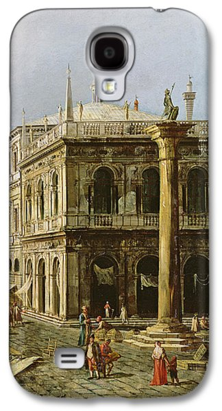 Cage Paintings Galaxy S4 Cases - Detail of Palazzo della Zecca Galaxy S4 Case by Michele Marieschi