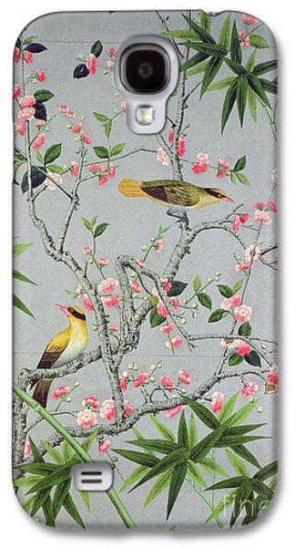 Floral Tapestries - Textiles Galaxy S4 Cases - Detail of the 18th century wallpaper in the drawing room photograph Galaxy S4 Case by John Bethell