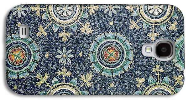 Byzantine Paintings Galaxy S4 Cases - Detail of the floral decoration from the vault mosaic Galaxy S4 Case by Byzantine