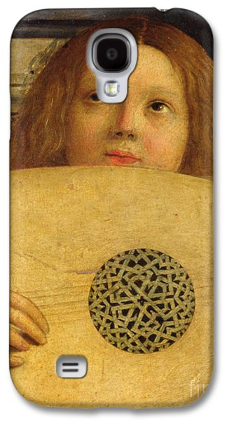 Lute Paintings Galaxy S4 Cases - Detail of the San Giobbe Altarpiece Galaxy S4 Case by Giovanni Bellini