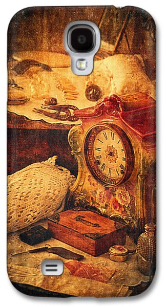 Gold Earrings Galaxy S4 Cases - Antique Details Galaxy S4 Case by Maria Angelica Maira