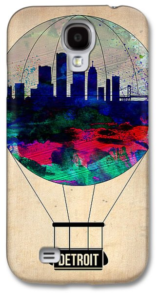 Balloons Galaxy S4 Cases - Detroit Air Balloon Galaxy S4 Case by Naxart Studio
