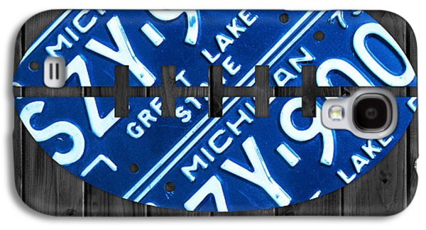 Lions Mixed Media Galaxy S4 Cases - Detroit Lions Football Vintage License Plate Art Galaxy S4 Case by Design Turnpike