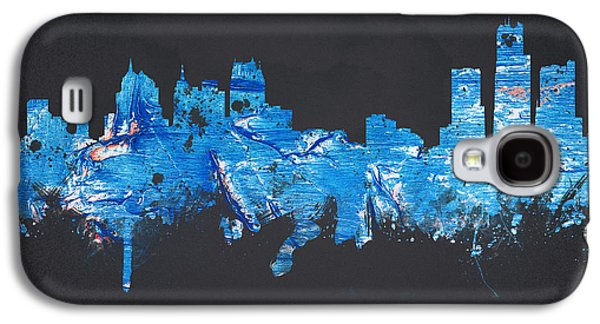 Painted Mixed Media Galaxy S4 Cases - Detroit Michigan USA Galaxy S4 Case by Aged Pixel