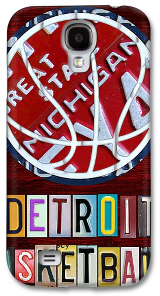 Handmade Galaxy S4 Cases - Detroit Pistons Basketball Vintage License Plate Art Galaxy S4 Case by Design Turnpike