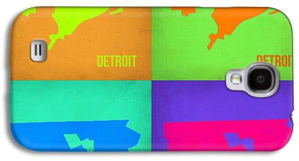 Detroit Digital Galaxy S4 Cases - Detroit Pop Art Map 1 Galaxy S4 Case by Naxart Studio