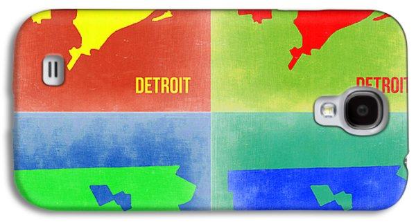 Detroit Digital Galaxy S4 Cases - Detroit Pop Art Map 2 Galaxy S4 Case by Naxart Studio