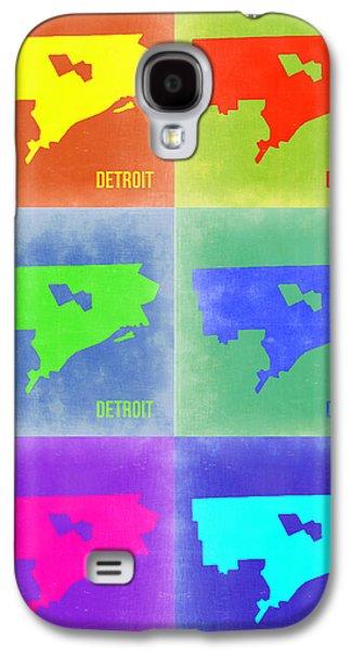 Usa Mixed Media Galaxy S4 Cases - Detroit Pop Art Map 3 Galaxy S4 Case by Naxart Studio
