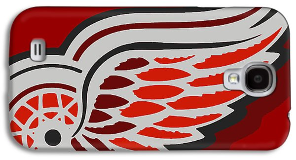 Icons Prints Paintings Galaxy S4 Cases - Detroit Red Wings Galaxy S4 Case by Tony Rubino