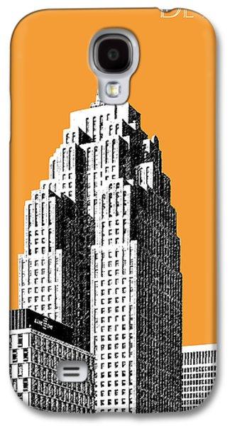 Detroit Skyline 2 - Orange Galaxy S4 Case by DB Artist