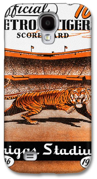 Baseball Stadiums Paintings Galaxy S4 Cases - Detroit Tigers 1946 Scorecard Galaxy S4 Case by Big 88 Artworks