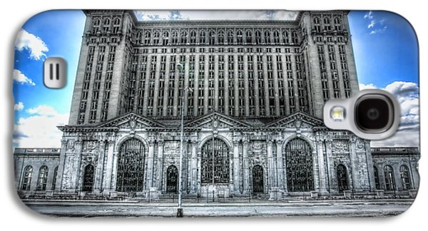 Old Man Digital Art Galaxy S4 Cases - Detroits Abandoned Michigan Central Train Station Depot Galaxy S4 Case by Gordon Dean II