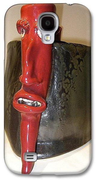 Fired Ceramics Galaxy S4 Cases - Devil Pepper Galaxy S4 Case by Mario Perron