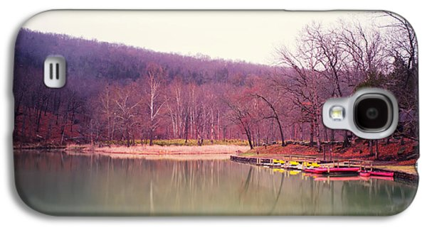 Devils Den Galaxy S4 Cases - Devils Den Lake and Canoes Galaxy S4 Case by Tanya Harrison